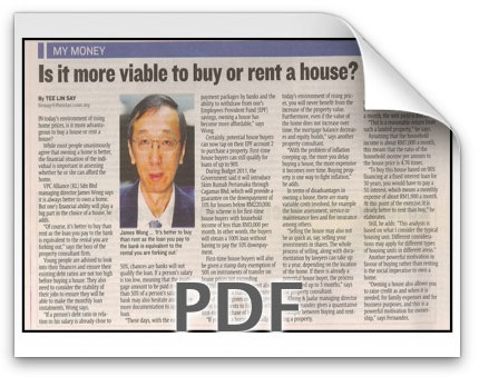 Is it more viable to buy or rent a house? -Starbizweek