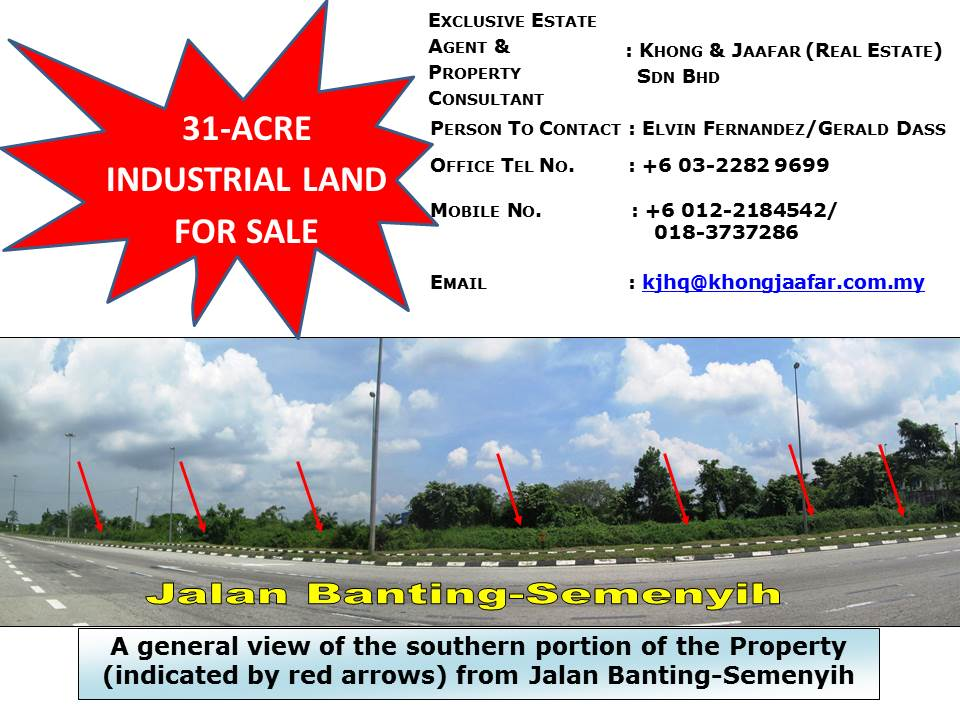 31-Acre Industrial Land For Sale